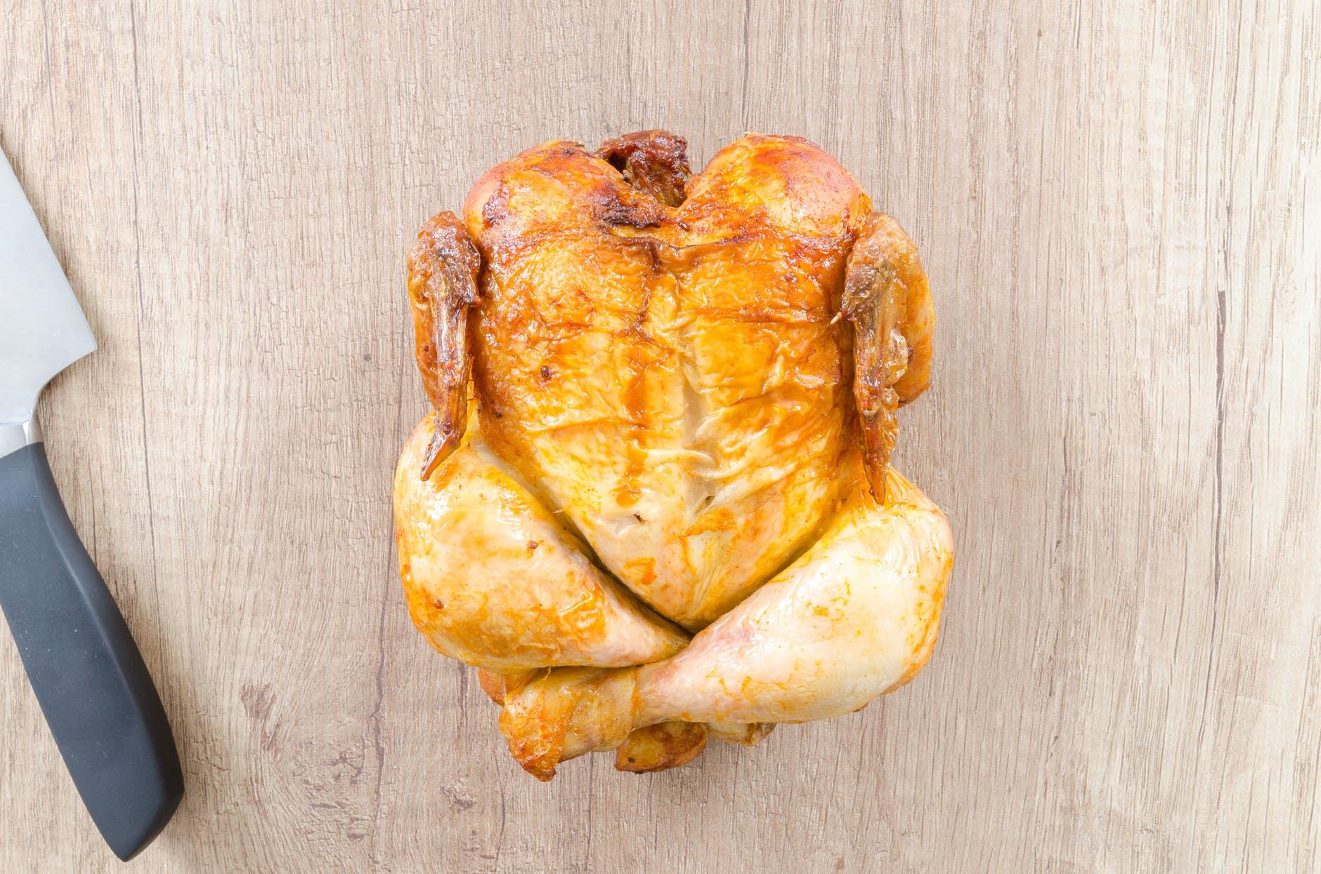 Kylling på skærebræt