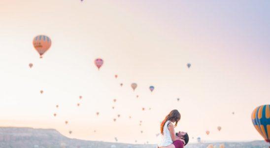 Par ser på varmluftsballoner