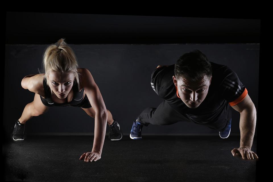 Fitness kvinde mand
